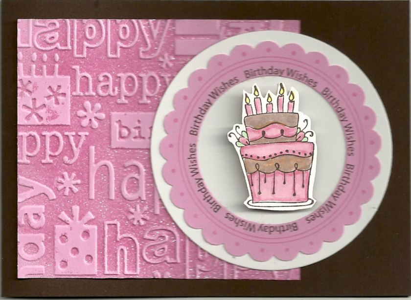 E201 KB's Birthday Cake, D229 Swiss Dot EK 1.5 Punch, E210 Birthday Wishes Circle