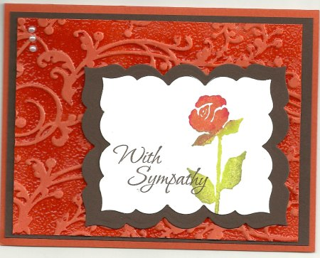 D161 With Sympathy Stacked, G51 Rose Lg