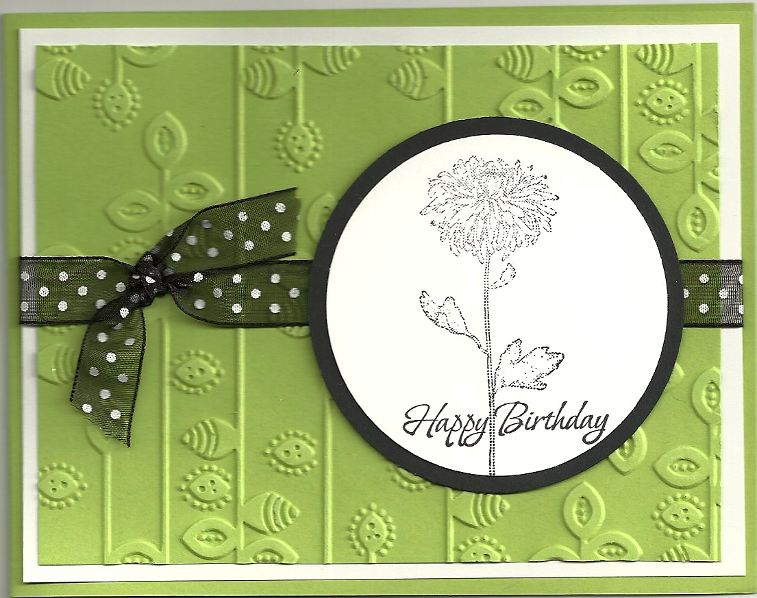 Happy Birthday Black Green Endless Creations Rubber Stamps