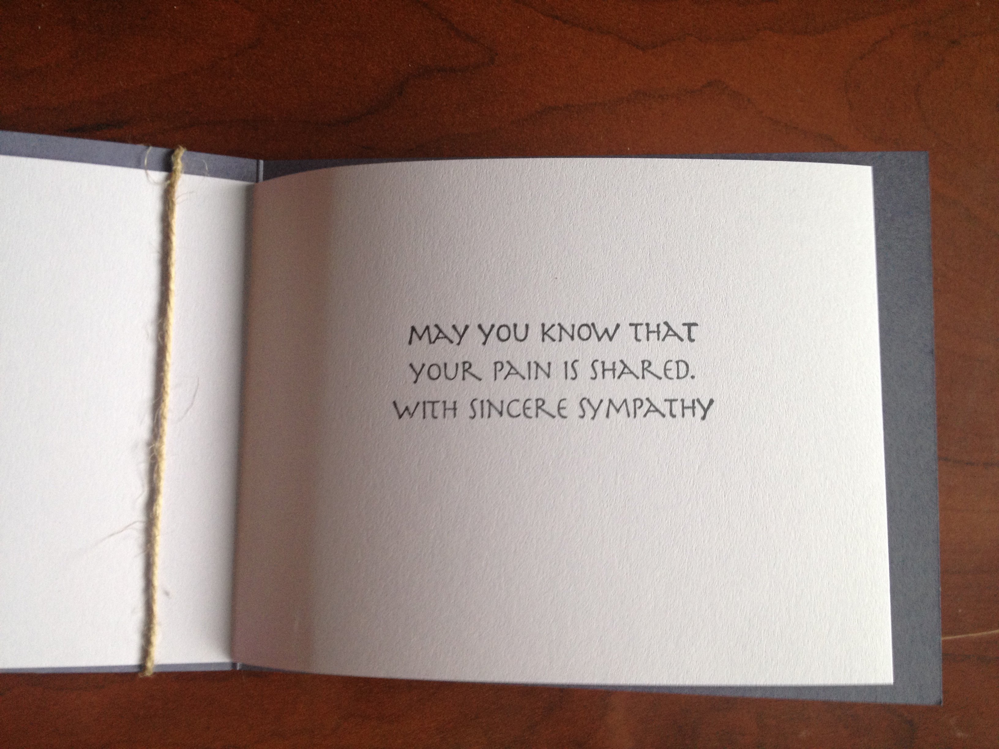 Vellum Sympathy  Funeral Words For Cards