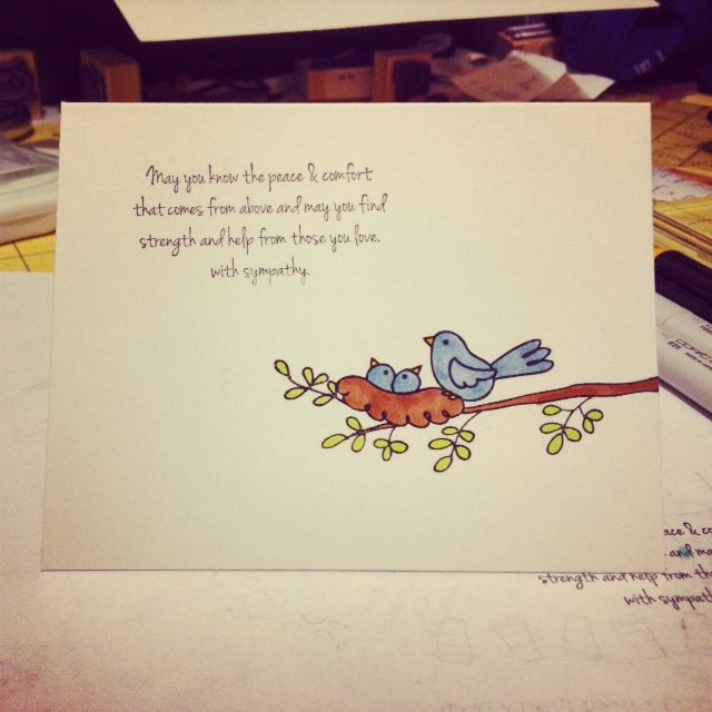Handmade Sympathy Card Endless Creations Rubber Stamps
