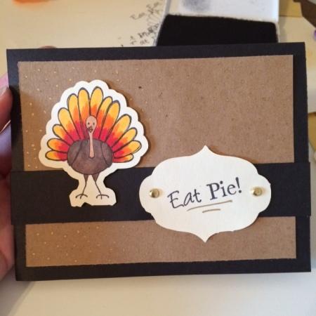 eat pie inside