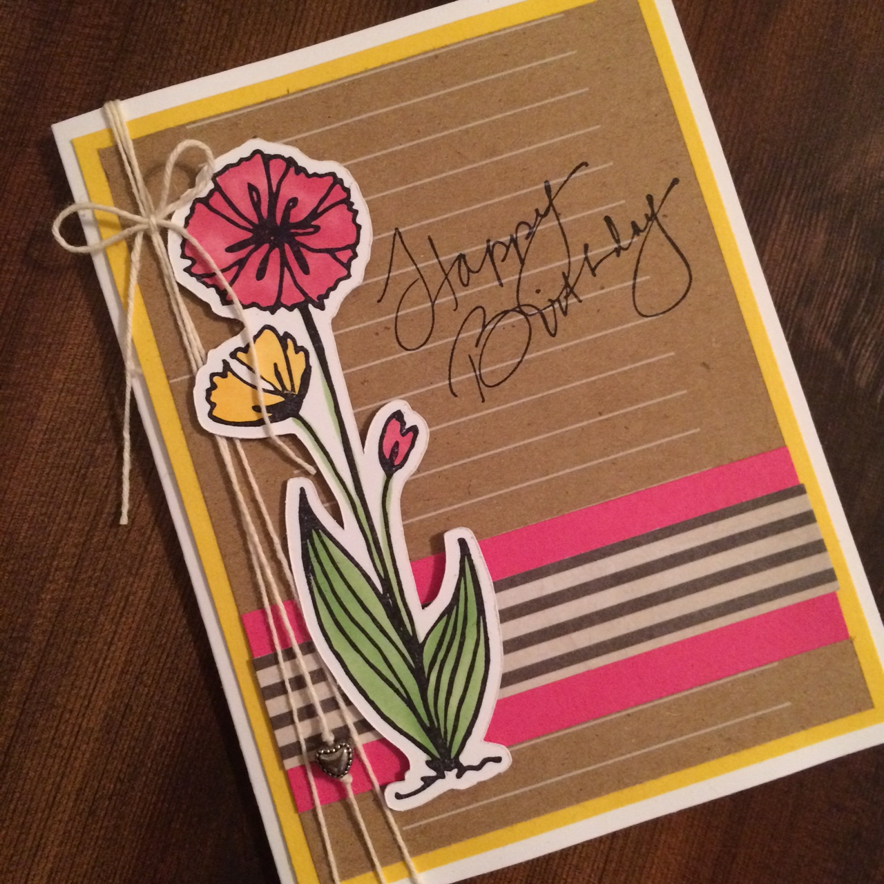 Birthday Handmade Greeting Card Endless Creations Rubber Stamps