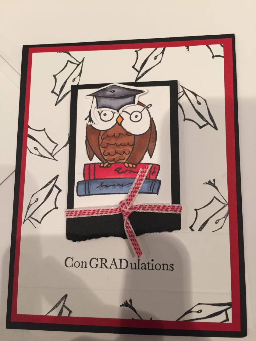 owl grad card